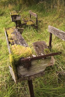 Free Delapidated School Bench Royalty Free Stock Image - 5477186