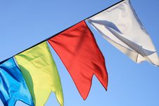 Free Small Flag Flapping On Wind Stock Photography - 5477772