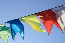 Free Small Flag Flapping On Wind Stock Images - 5477794