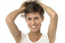 Free Girl With Hands In The Hair Stock Photo - 5478030