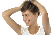 Free Girl With Hands In The Hair Royalty Free Stock Photo - 5478035