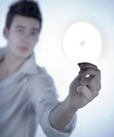 Free Boy With Cd Royalty Free Stock Photo - 5478065