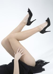 Free Legs Of A Woman Royalty Free Stock Photo - 5478565