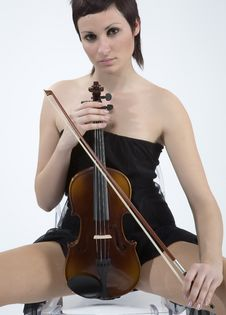 Free Women With Violin Stock Photos - 5478663