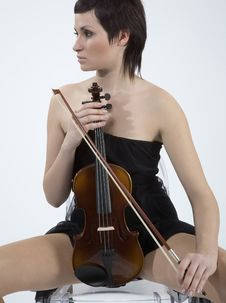 Free Women With Violin Stock Image - 5478671
