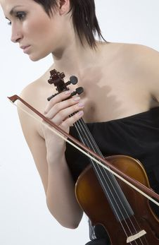 Free Women With Violin Stock Images - 5478674