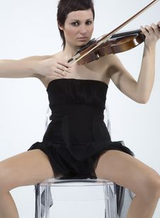Free Women With Violin Stock Photography - 5478682