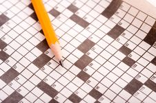 Free Crossword Puzzle With Pencil Royalty Free Stock Images - 5478829