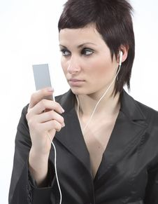 Free Girl With Mp3-player Stock Photo - 5478840