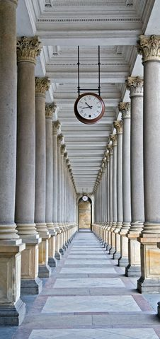 Free Classical Columns And Clock Stock Photo - 5478900