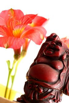 Free Buddha And Lilies Royalty Free Stock Photography - 5479197