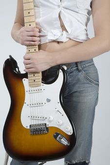 Free Guitar Rocker Girl Stock Photo - 5479220