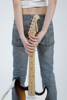 Free Guitar Rocker Girl Stock Photography - 5479232