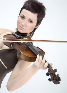 Free Women With Violin Stock Photo - 5479300