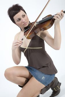 Free Women With Violin Stock Images - 5479314