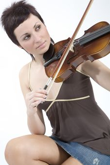 Free Women With Violin Stock Photography - 5479322