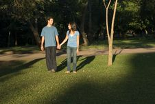 Free Holding Hands In The Park - Horizontal Stock Images - 5479474