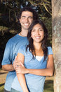 Free Couple Leaning Against A Tree - Vertical Stock Photos - 5480063