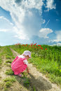 Free Baby On A Lane Amongst A Field Stock Photos - 5481263