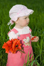Free Baby With Red Flower Royalty Free Stock Images - 5481269