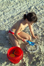 Free Little Child Play With Sand Royalty Free Stock Image - 5483256