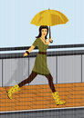 Free Walkig In The Rain Stock Photo - 5484750