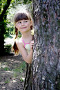 Free The Little Girl In Wood 2 Royalty Free Stock Photos - 5486918