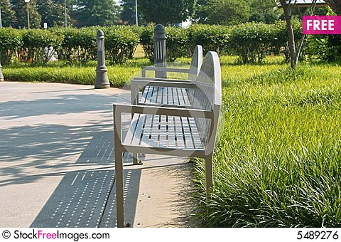 Free Park Benches Royalty Free Stock Image - 5489276