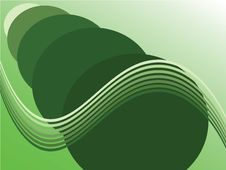 Green Waves Background Stock Image
