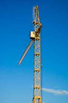 Free Number One Building Tower Crane Stock Image - 5481031