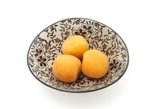 Free Three Apricots Isolated With Path Royalty Free Stock Image - 5481946