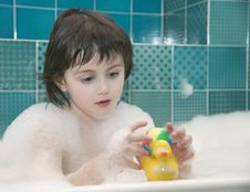 Free Small Girl In Bath Stock Photos - 5482033