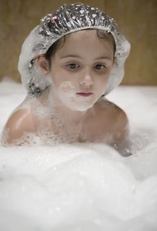 Child In The Bathroom Stock Photography