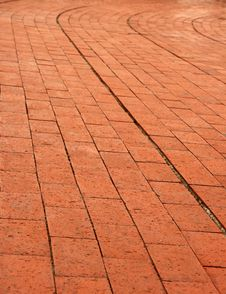 Free Curve Brick Wall Royalty Free Stock Photography - 5482577