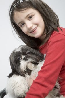 Free Child With Dog Pet Stock Photos - 5482793