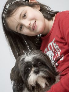 Free Child With Dog Pet Royalty Free Stock Photos - 5482808