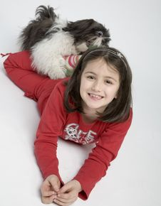 Free Child With Dog Pet Royalty Free Stock Photo - 5482835