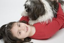 Free Child With Dog Pet Royalty Free Stock Photos - 5482868