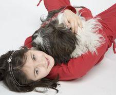Free Child With Dog Pet Stock Photos - 5482883