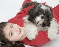 Free Child With Dog Pet Royalty Free Stock Photography - 5482887