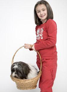 Free Child With Dog Pet Stock Photos - 5482913