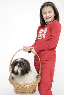 Free Child With Dog Pet Royalty Free Stock Photography - 5482927