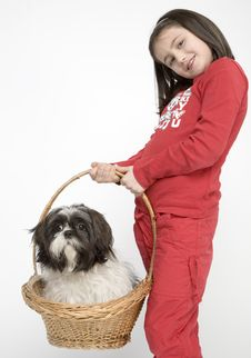 Free Child With Dog Pet Stock Photos - 5482933