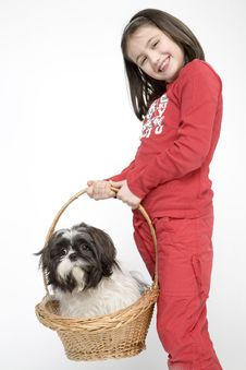 Free Child With Dog Pet Royalty Free Stock Photo - 5482975