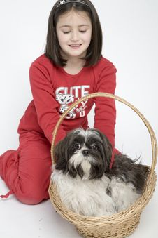 Free Child With Dog Pet Stock Image - 5482981