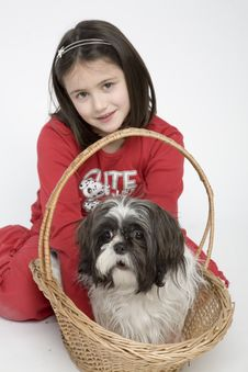 Free Child With Dog Pet Stock Photography - 5482992