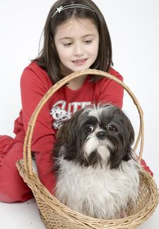 Free Child With Dog Pet Stock Photo - 5483010