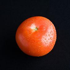 Free Tomato On Black Fabric Royalty Free Stock Photo - 5483025