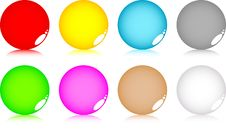 Free Set Of Round Buttons Royalty Free Stock Image - 5483056