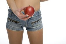 Free Girl With An Apple Stock Images - 5483384